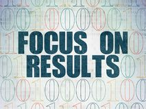 Business concept: Focus on RESULTS on Digital Data Paper background Royalty Free Stock Images
