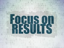 Business concept: Focus on RESULTS on Digital Data Paper background Stock Photography