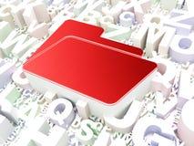 Business concept: Folder on alphabet background Stock Images