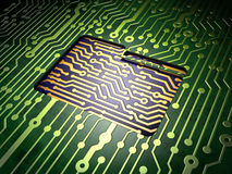 Business concept: Folder on circuit board Royalty Free Stock Photos