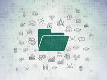 Business concept: Folder on Digital Data Paper background Stock Image