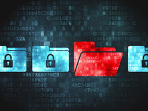 Business concept: Folder Whis Padlock on digital background Royalty Free Stock Photos