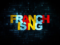Business concept: Franchising on Digital Royalty Free Stock Image