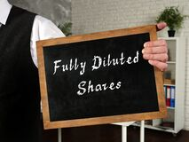 Business concept about Fully Diluted Shares with sign on the sheet