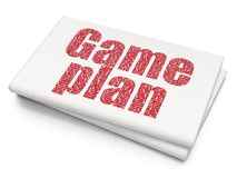 Business concept: Game Plan on Blank Newspaper background. Business concept: Pixelated red text Game Plan on Blank Newspaper background, 3D rendering Stock Images