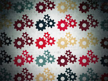 Business concept: Gears icons on Digital Paper Royalty Free Stock Photos