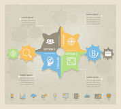 Business Concept Gears infographic Stock Photography