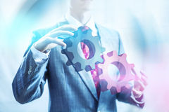 Business concept gears Royalty Free Stock Images