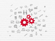 Business concept: Gears on wall background Stock Image