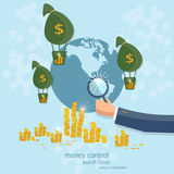 Business concept global control monetary system banking Royalty Free Stock Images