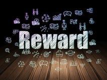 Business concept: Reward in grunge dark room Royalty Free Stock Photo
