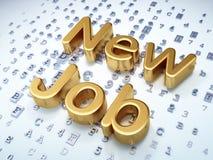 Business concept: Golden New Job on digital. Background, 3d render Stock Photos