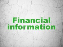 Business concept: Financial Information on wall background. Business concept: Green Financial Information on textured concrete wall background Stock Photography