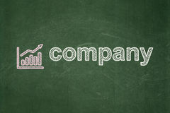 Business concept: Growth Graph and Company on Stock Images