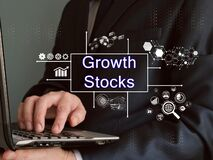 Business concept about Growth Stocks with phrase on the page