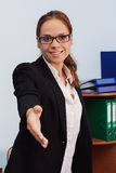 Business concept: hand gesture for handshake Royalty Free Stock Photography