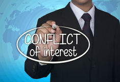 Business concept handwriting marker and write Conflict of Interest Royalty Free Stock Photography