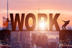The business concept of hard work Royalty Free Stock Photography
