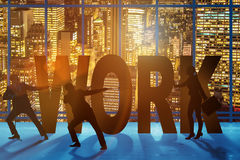 The business concept of hard work Royalty Free Stock Image