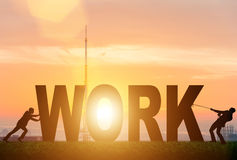 The business concept of hard work Royalty Free Stock Photo