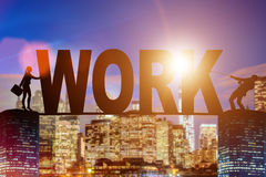 The business concept of hard work Royalty Free Stock Images