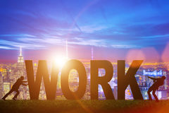 The business concept of hard work Stock Photos