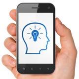 Business concept: Head With Lightbulb on Stock Photos