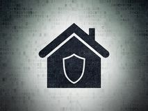 Business concept: Home on Digital Data Paper background stock image