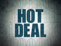 Business concept: Hot Deal on Digital Paper background Stock Photography