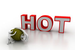 Business concept of hot sale Stock Photo