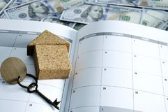 Business Planner for buy house for home loan. royalty free stock photography