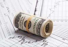 Business concept. Hundred dollar bills Royalty Free Stock Photos
