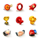 Business concept icon set Royalty Free Stock Images