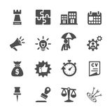 Business concept icon set, vector eps10 Royalty Free Stock Photo