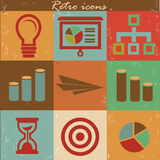 Business concept icon set,Vintage style.  Stock Photography