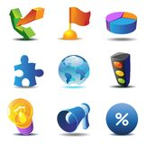 Business concept icons Stock Photography