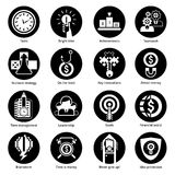 Business Concept Icons Black Stock Images