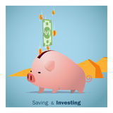 Business concept Idea  Saving and Investment Stock Image