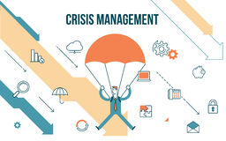 Business concept illustration crisis management Stock Photography