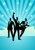 The Winning Team. Business concept illustration of the winning team Royalty Free Stock Photo