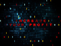 Business concept: Increase Your profit on Digital Royalty Free Stock Photo
