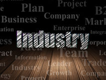Business concept: Industry in grunge dark room Royalty Free Stock Photo