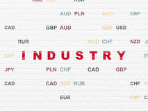 Business concept: Industry on wall background Royalty Free Stock Photography