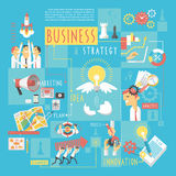 Business concept infographic elements poster Royalty Free Stock Photography