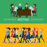 Business concept infographic with people Royalty Free Stock Photography