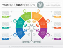 Business concept of infographic with six options. Part of the re Stock Image