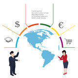 Business concept infographic Stock Images