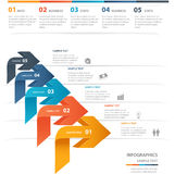 Business concept infographic template Stock Images