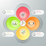 Business concept infographic template, Stock Photography