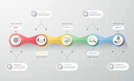 Business concept infographic template, Can be used for workflow layout, diagram Stock Images